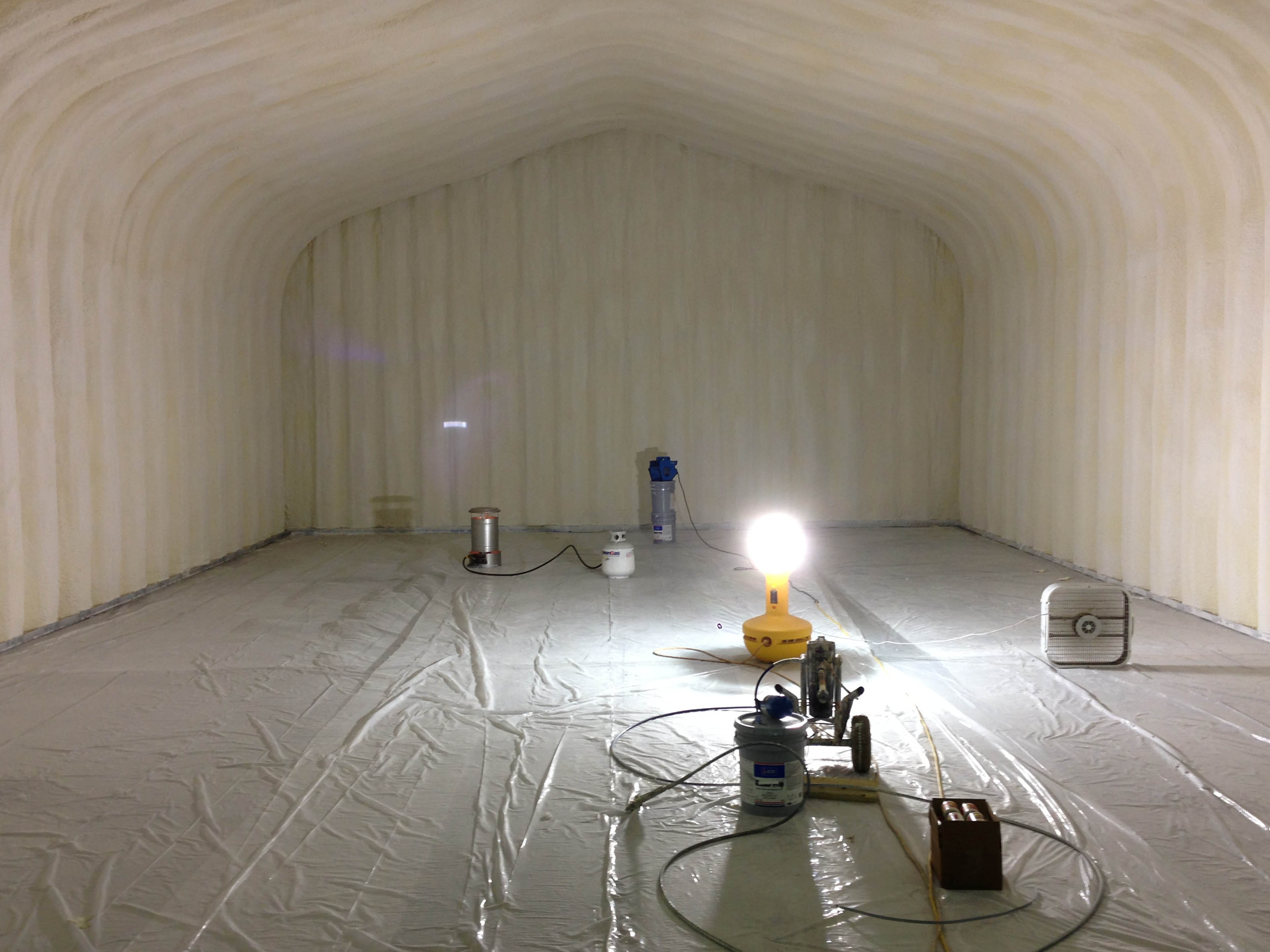 Spray on insulation